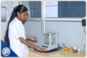 Raw Materials testing in laboratory